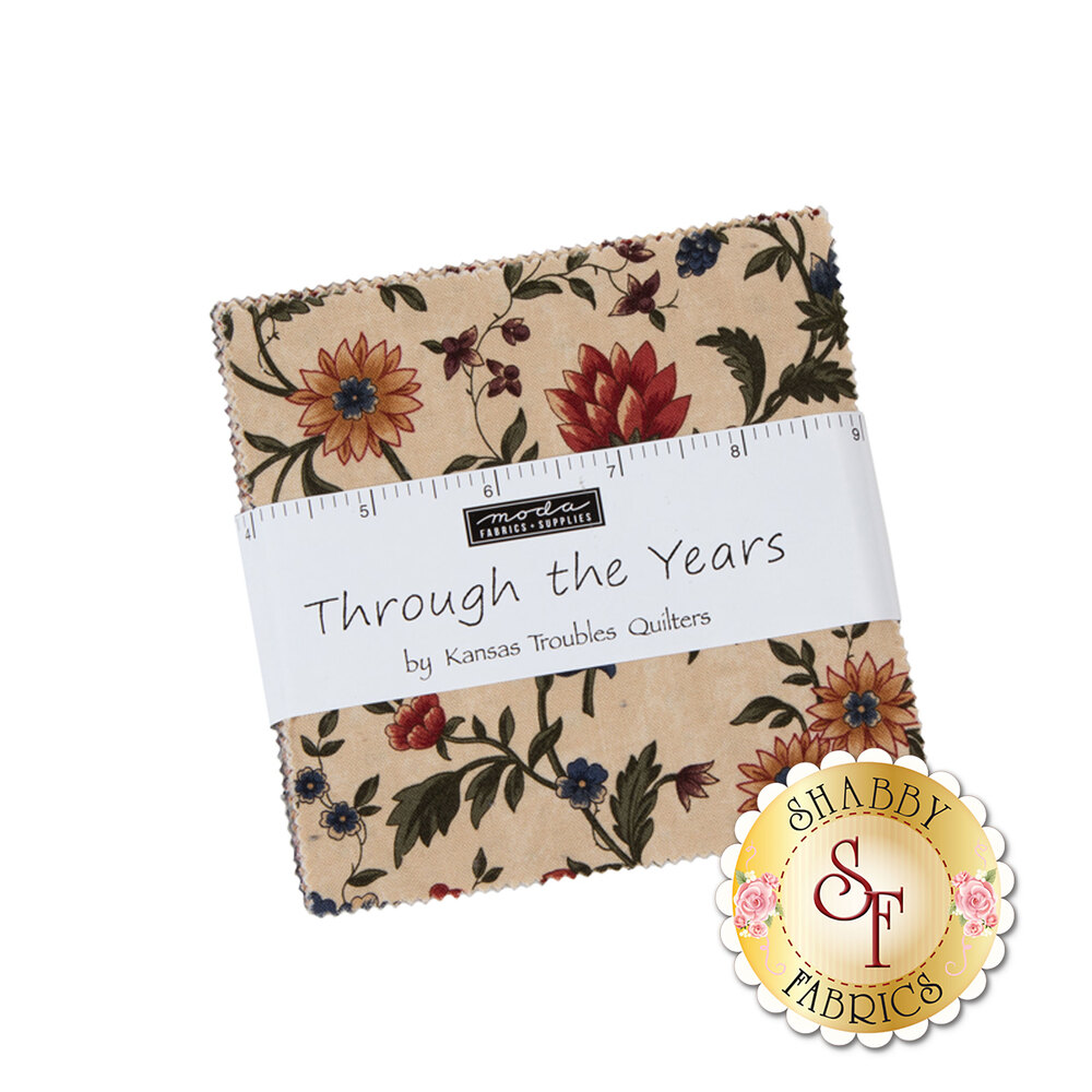 Through The Years Charm Pack by Moda Fabrics | Shabby Fabrics