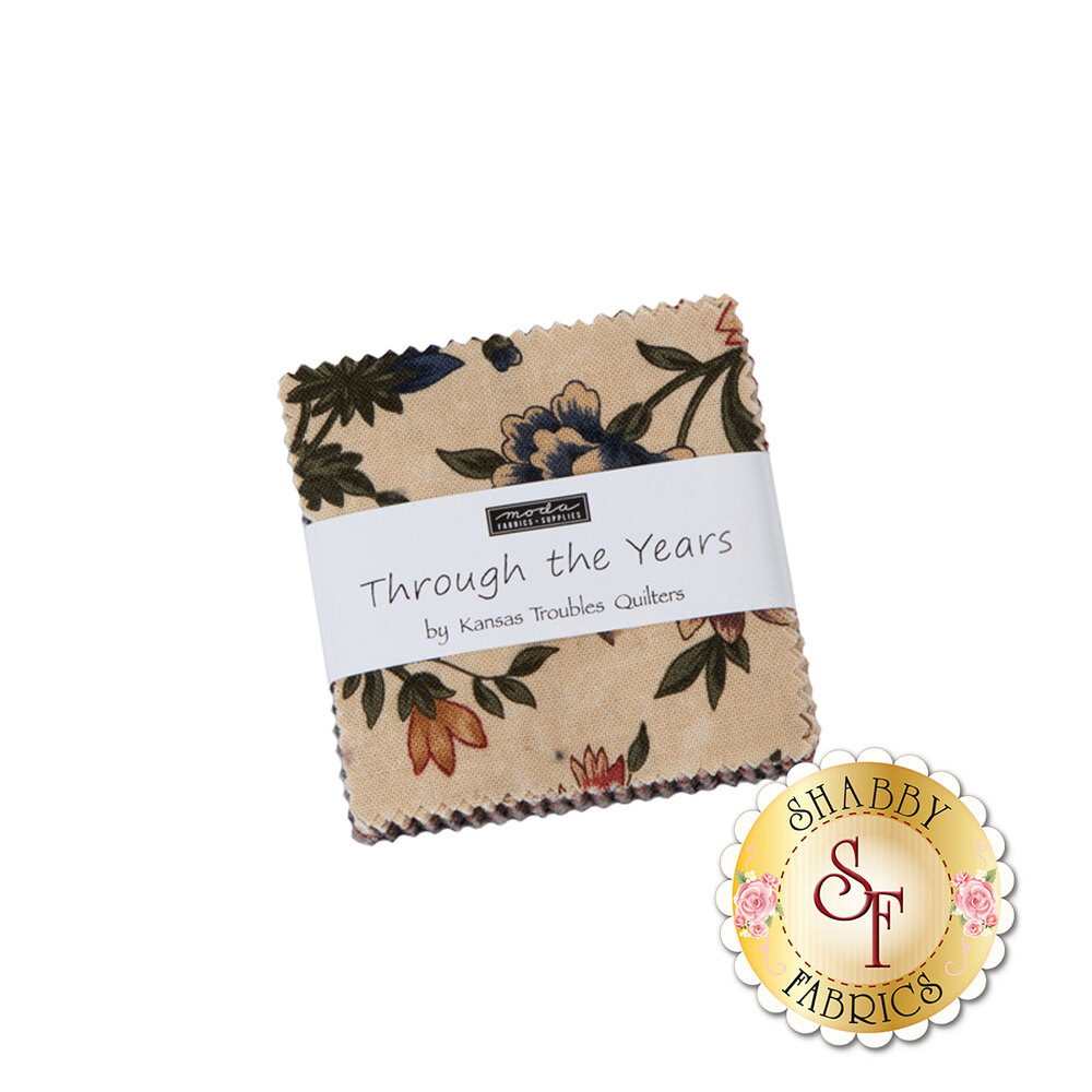 Through The Years Mini Charm Pack by Moda Fabrics | Shabby Fabrics