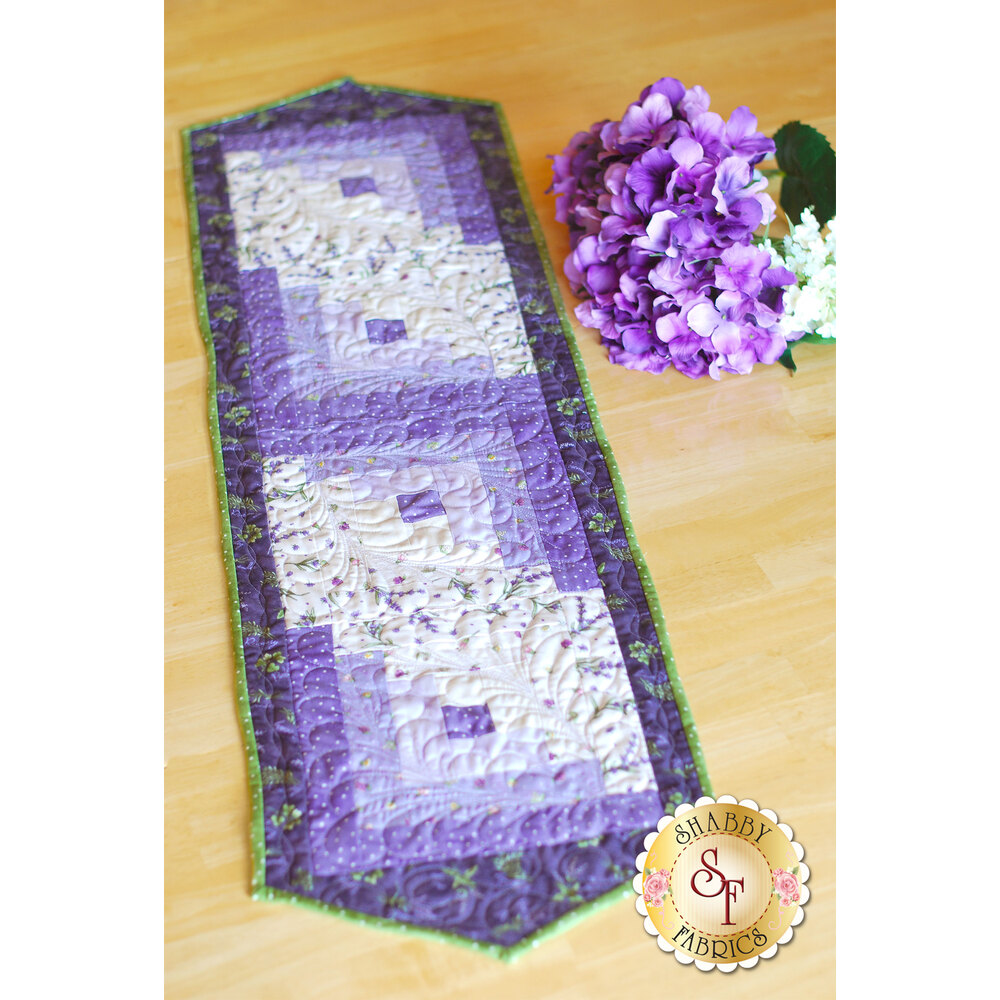 Log Cabin Table Runner Pre-Cut Kit - Thyme With Friends - Shabby Fabrics