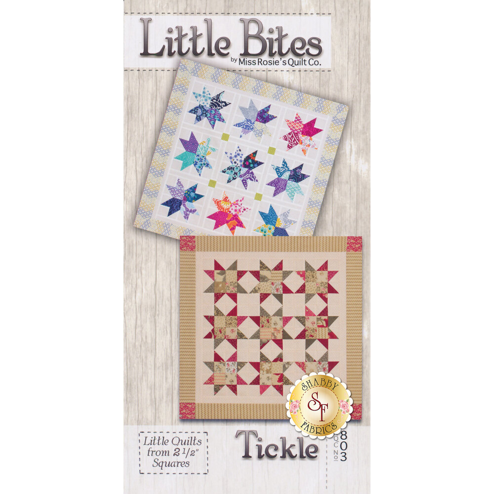 The front of the Little Bites - Tickle Pattern showing the two different quilt options