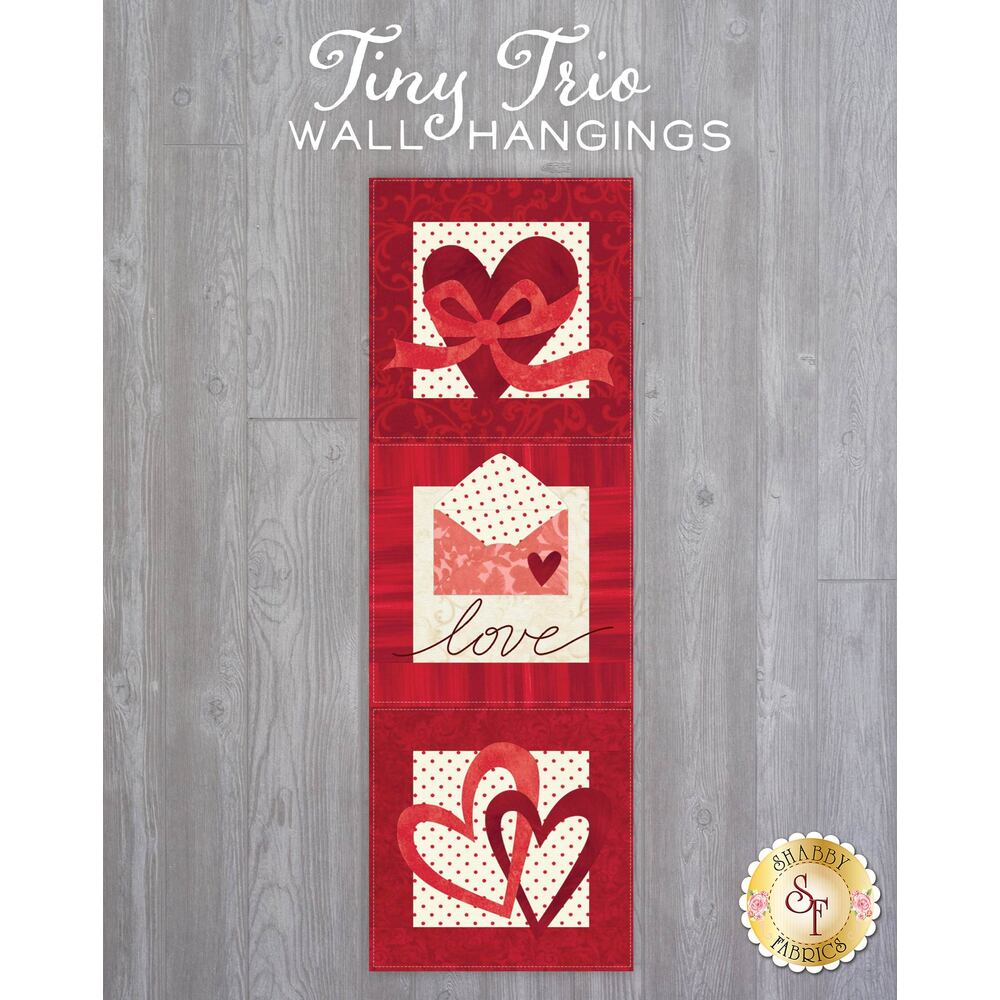 Tiny Trio Wall Hangings - Love Note - February - Laser Cut Kit
