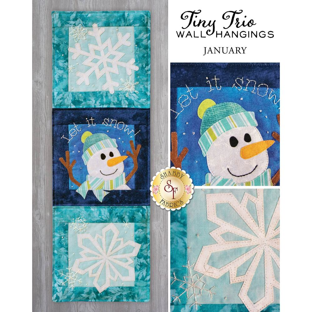Tiny Trio Wall Hangings - Let It Snow - January - Laser-Cut Kit