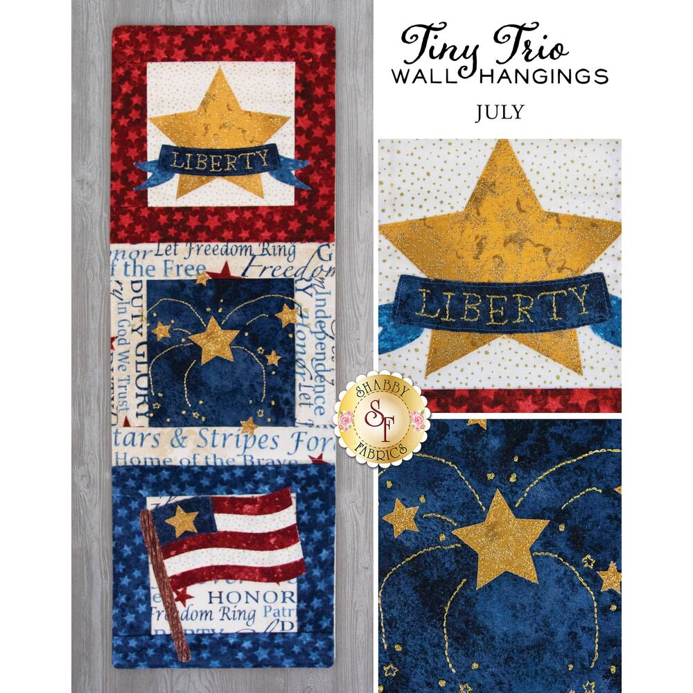 Tiny Trio Wall Hangings - Picnic Time - June available at Shabby Fabrics
