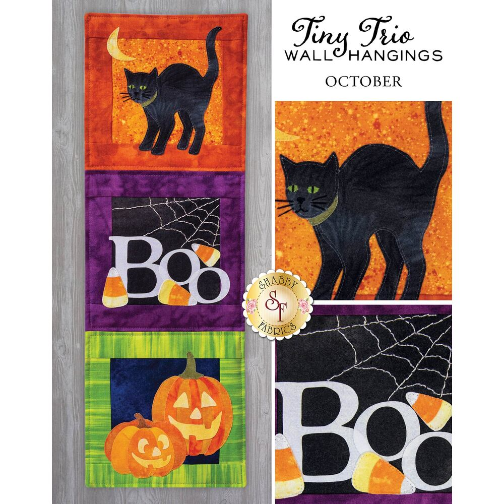 Tiny Trio Wall Hangings - Boo - October - Pattern