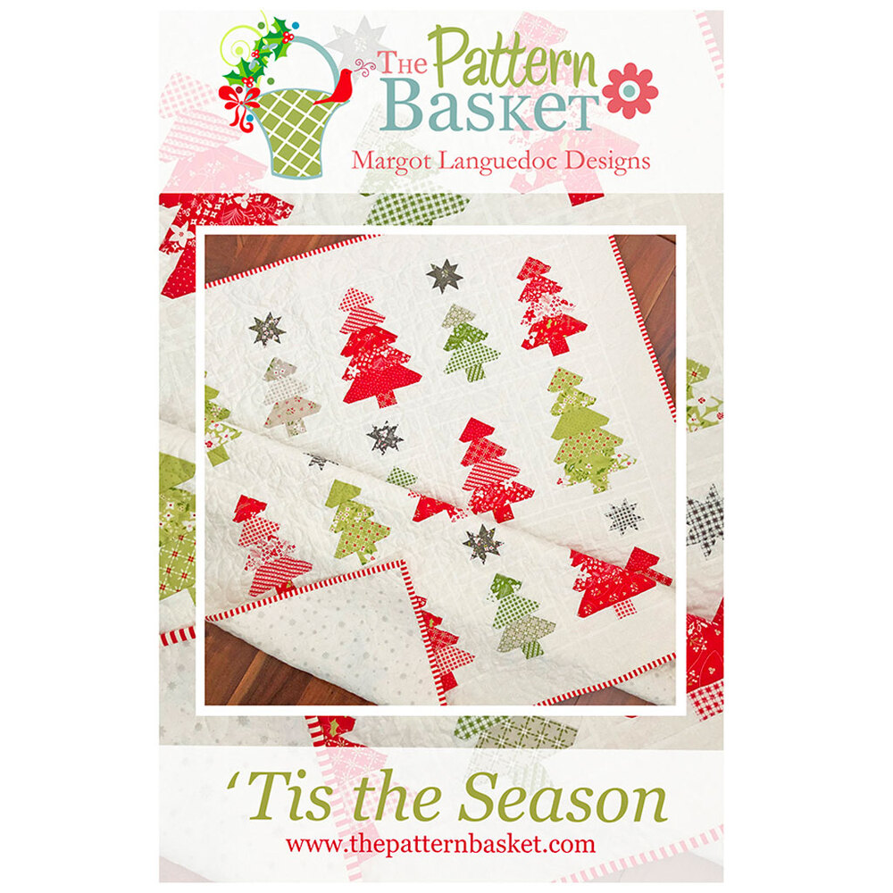 The front of the 'Tis the Season pattern showing the finished quilt