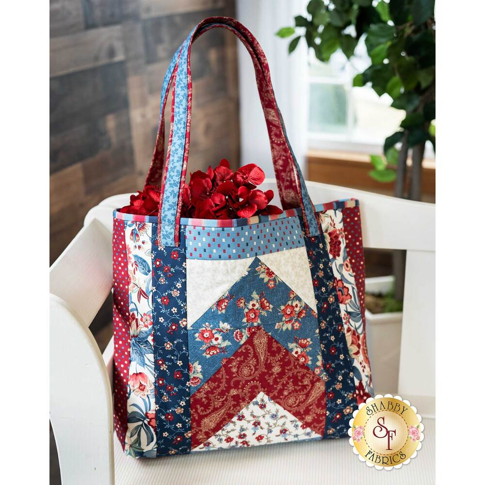 Quilt As You Go Tori Tote Kit - Blue Meadow