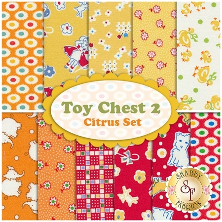 Toy Chest 2  11 FQ Set - Citrus Set by Penny Rose Fabrics