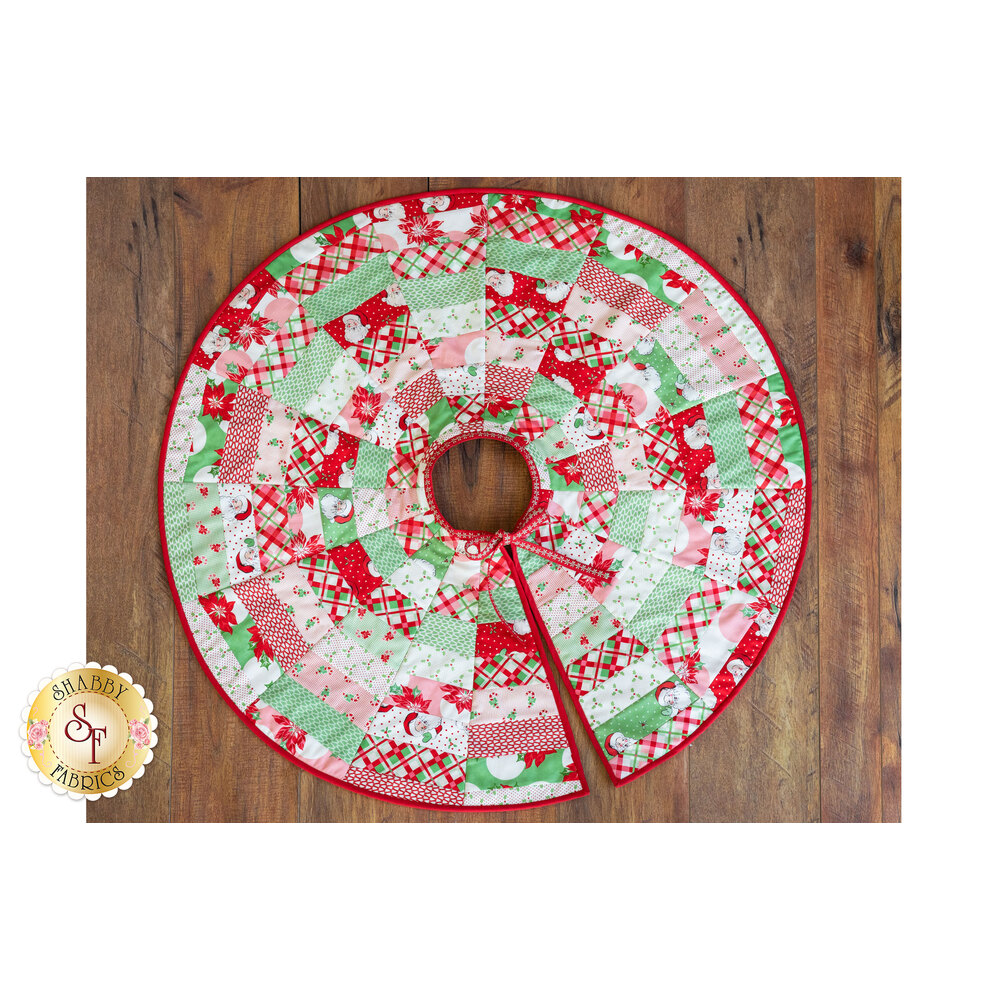 Quilt As You Go Tree Skirt Swell Christmas Shabby Fabrics