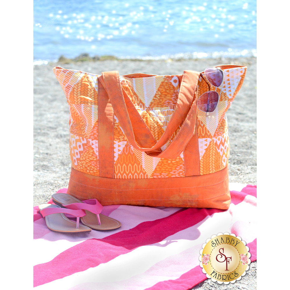 Trendy Triangle Tote Bag - Orange Kit