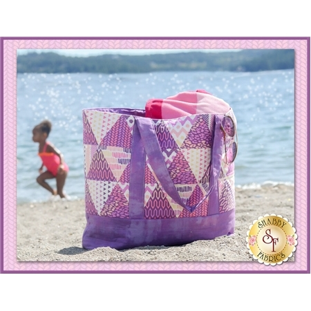Trendy Triangle Tote Bag - Purple Kit