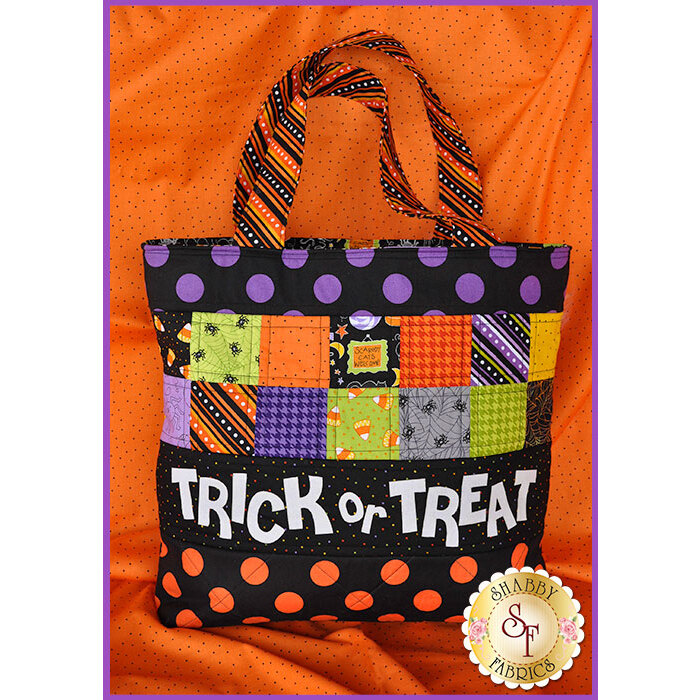 Trick or Treat Tote Bag Kit - GLOW IN THE DARK LETTERS !
