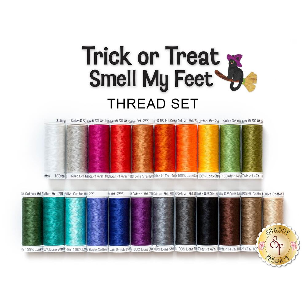 Trick or Treat Smell My Feet BOM - 22 pc Sulky Cotton Thread Set