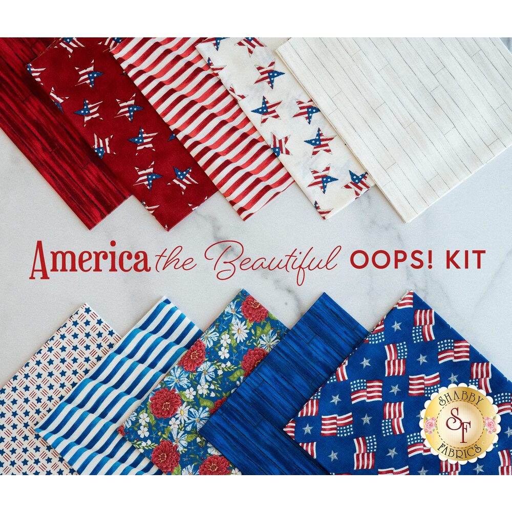 Trip Around The World Quilt Kit - America the Beautiful - Oops Kit