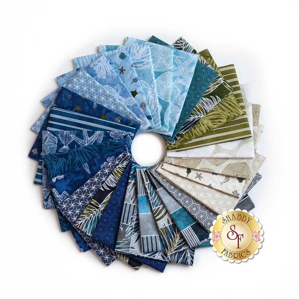 Turtle Bay fabrics fanned out | Shabby Fabrics