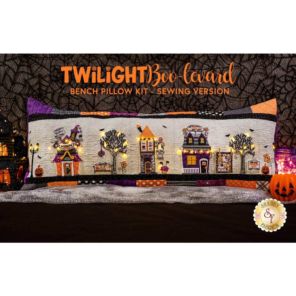Twilight Boo-levard Bench Pillow and Embellishing Kit - Sewing Version with Laser Cut Applique