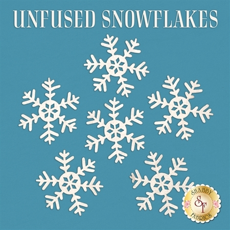 Large Unfused Felt Snowflake Pack - 6 Pieces - Die-cut