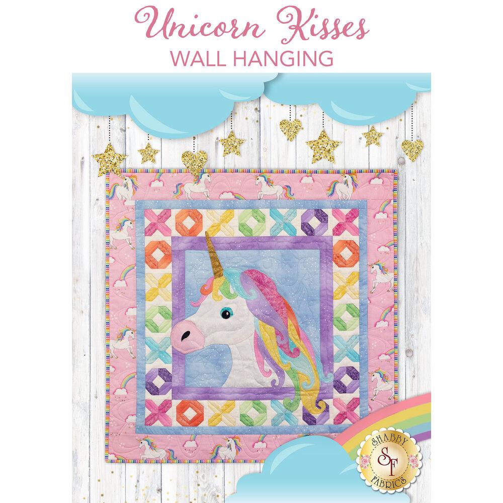 Unicorn Kisses Quilt displayed | Shabby Fabrics