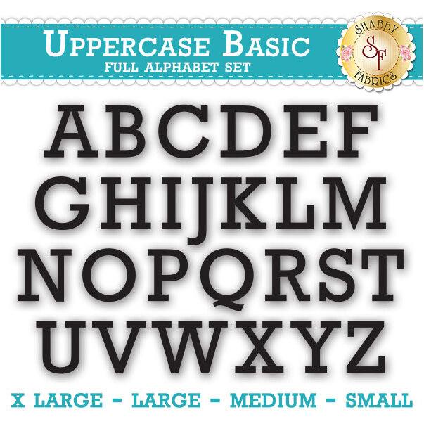 Laser-Cut Uppercase Basic Full Alphabet Set - Style 4 - 4 Sizes Available!