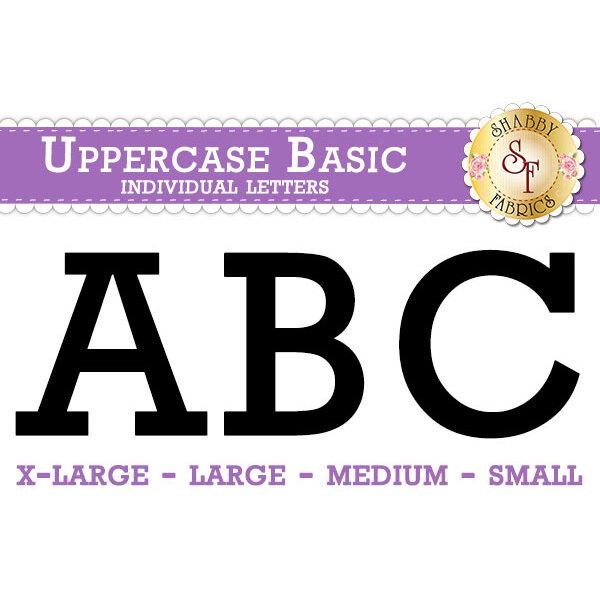 Laser-Cut Uppercase Basic Individual Alphabet Letters - Style 4 - 4 Sizes Available!