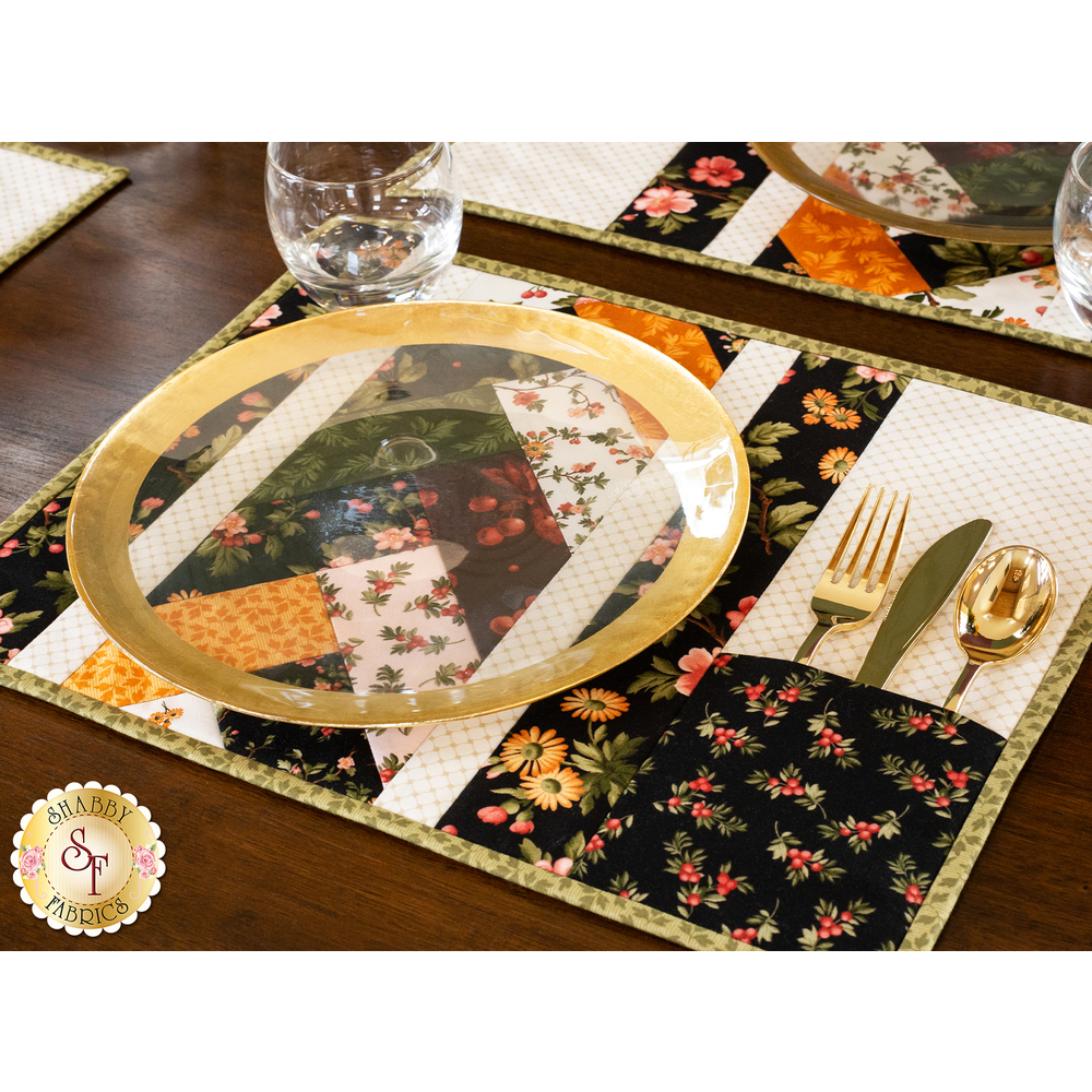 Quilt As You Go Venice Placemats Kit - A Fruitful Life