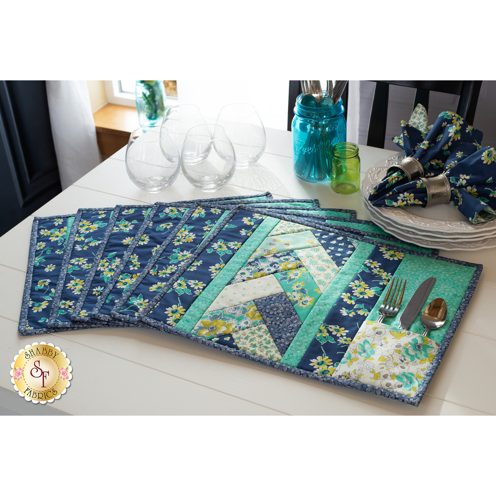 Quilt As You Go Venice Placemats Kit - Flour Garden