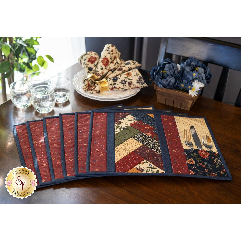 Quilt As You Go Venice Placemats Kit - Through The Years - Makes 6