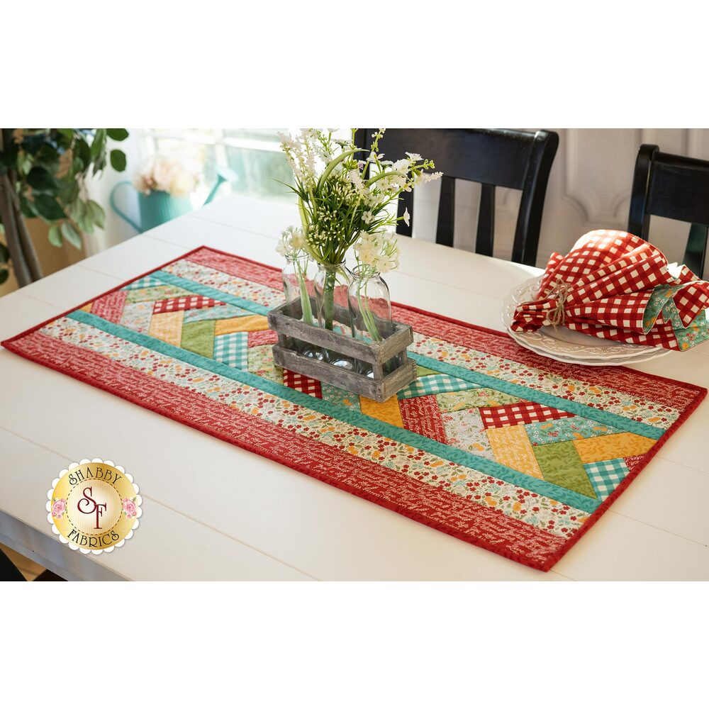 Quilt As You Go Venice Table Runner Kit - Cultivate Kindness
