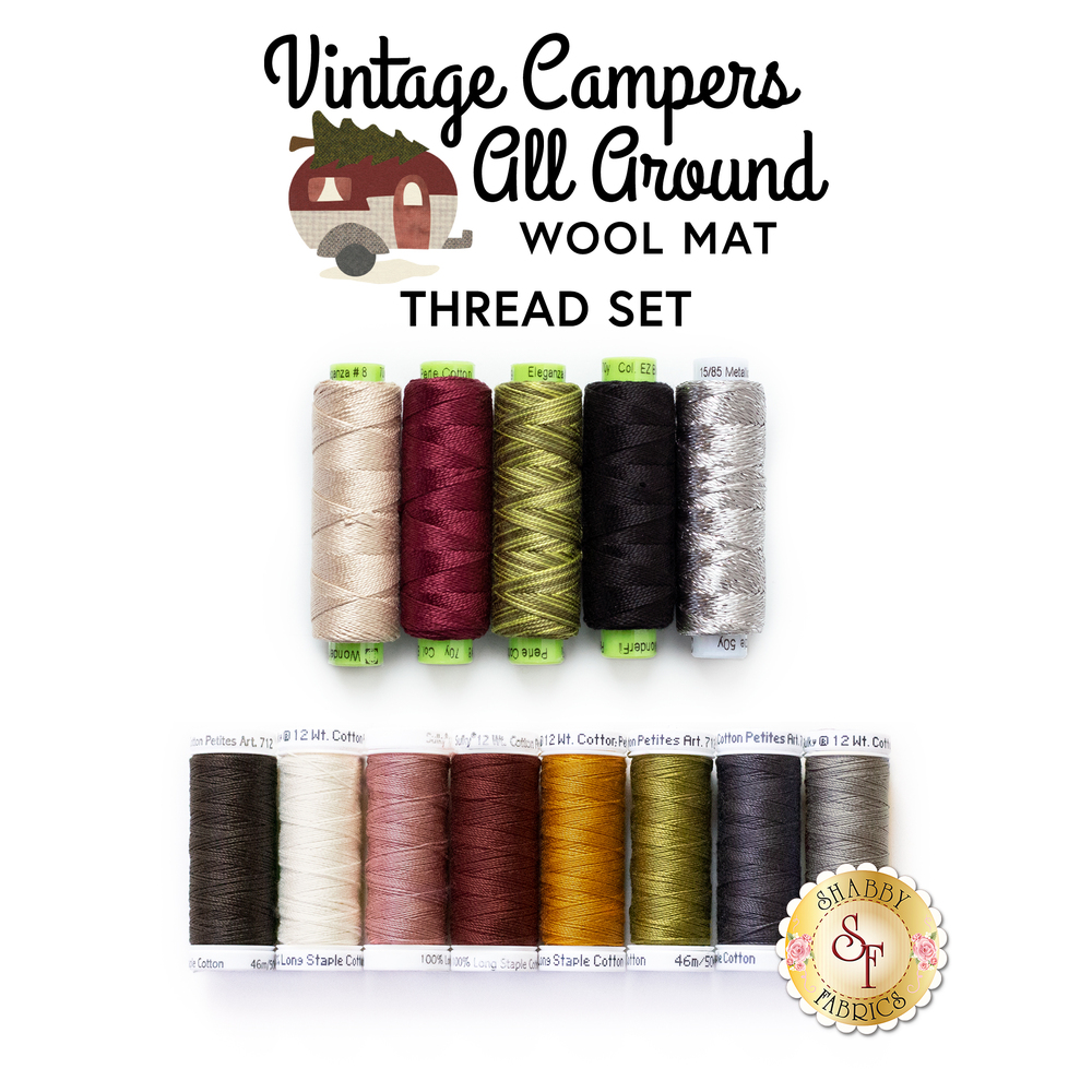 The coordinated thread set for the Vintage Campers All Around - Wool Kit
