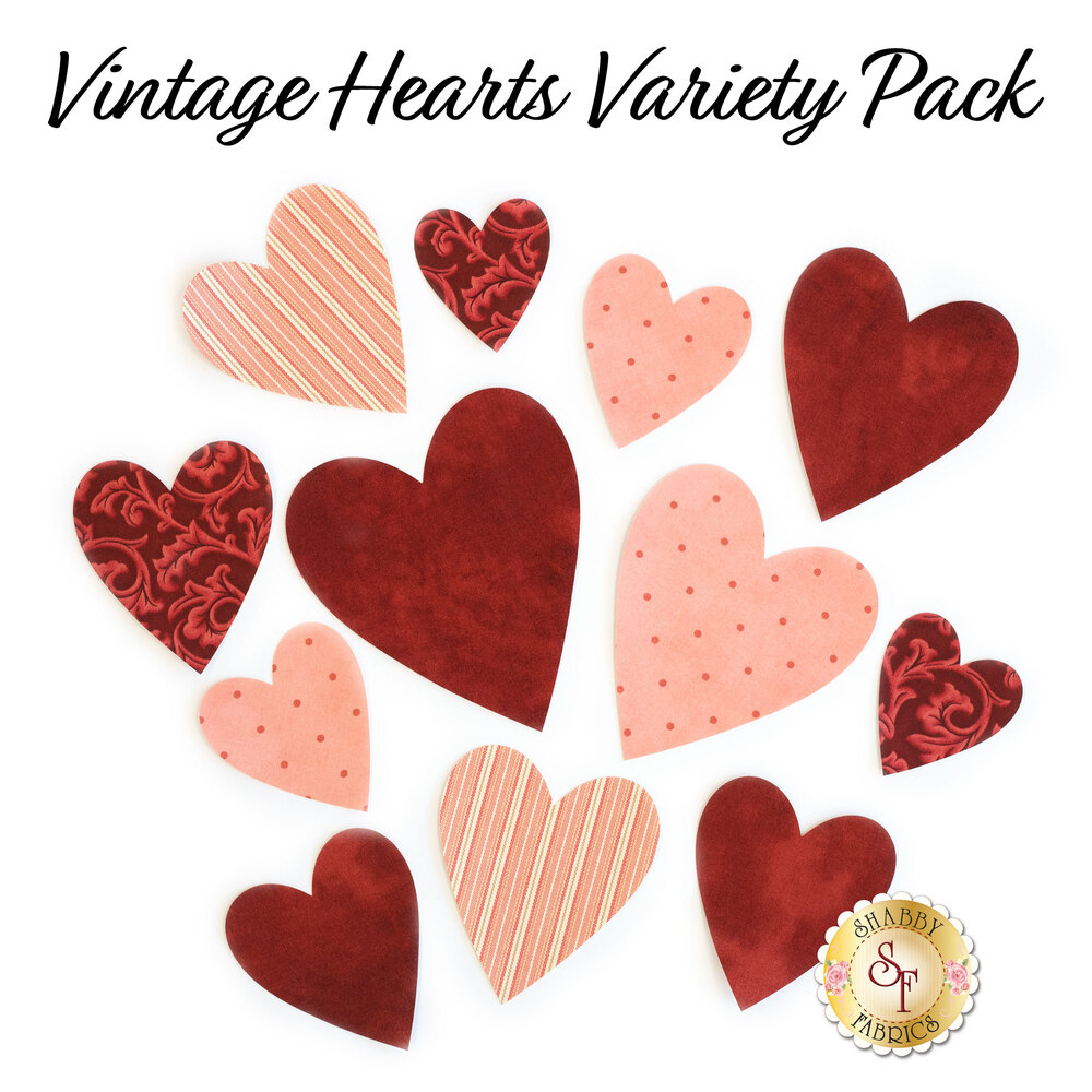 Laser-Cut Vintage Heart Set - Variety Pack