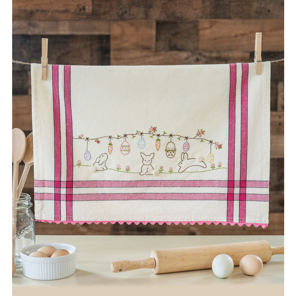 The adorable Easter Vintage Kitchen Towel collage