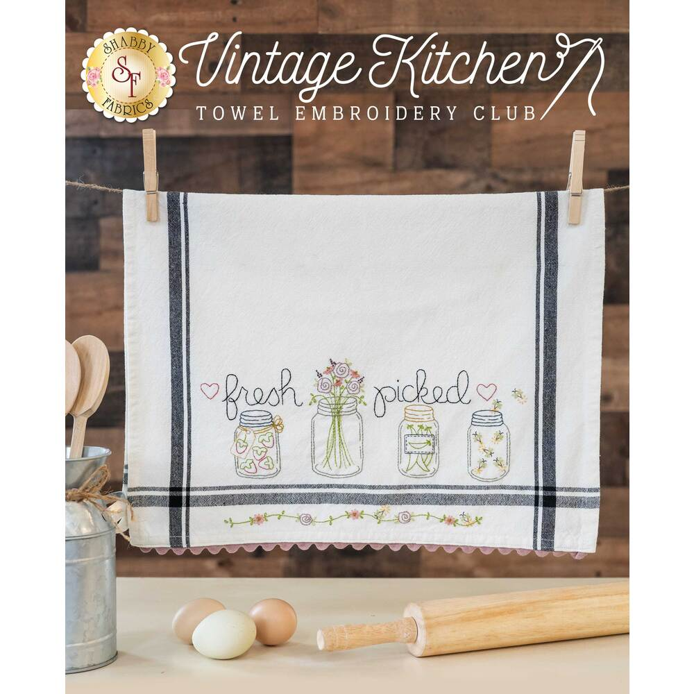 Vintage Kitchen Towel Embroidery Club