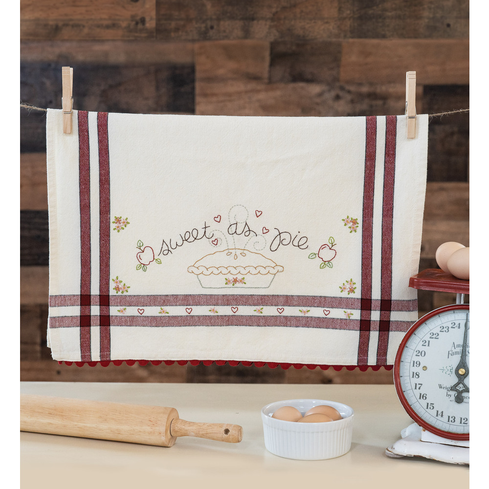 The adorable Sweet as Pie Vintage Kitchen Towel collage