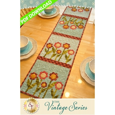 The Vintage Series - August Table Runner Pattern - PDF DOWNLOAD