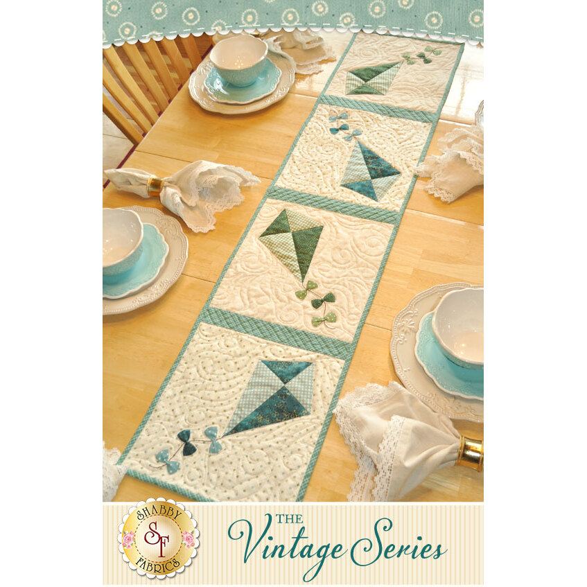 Vintage Kite Table Runner - July - Laser Cut Kit | Shabby Fabrics