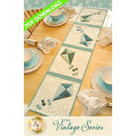 The Vintage Series - July Table Runner Pattern - PDF DOWNLOAD