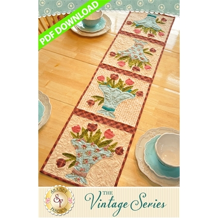 Vintage Bouquet Table Runner - May - PDF Download