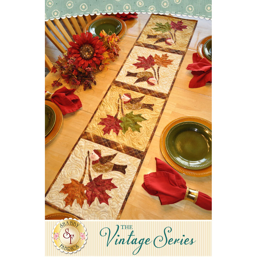 Vintage Maple Leaf Table Runner - November - Pattern