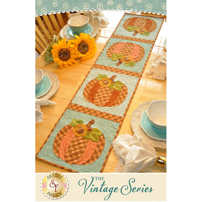Vintage Pumpkin Table Runner - October - Pattern