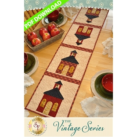 Vintage Schoolhouse Table Runner - September - PDF Download