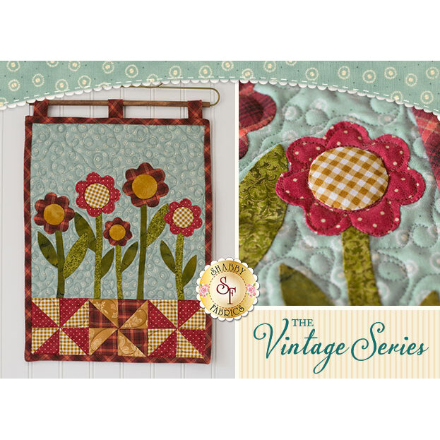 Vintage Garden Wall Hanging - August - Laser Cut Kit | Shabby Fabrics