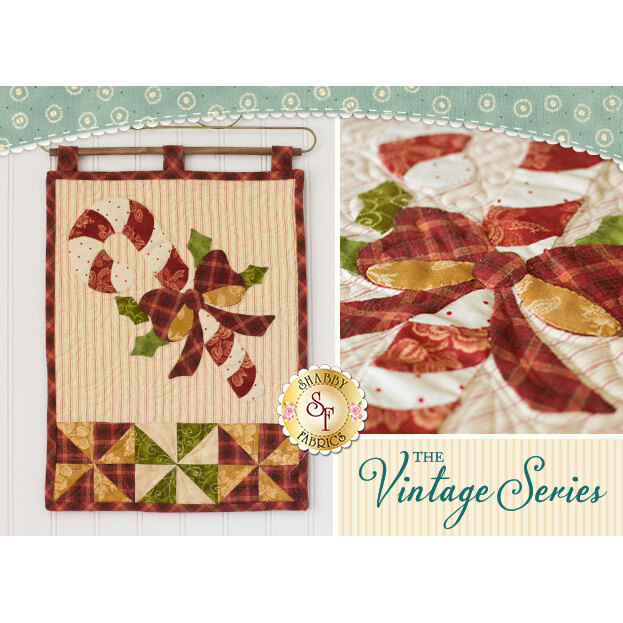 Vintage Candy Cane Wall Hanging - December - Pattern