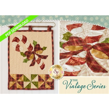 Vintage Candy Cane Wall Hanging - December - PDF Download