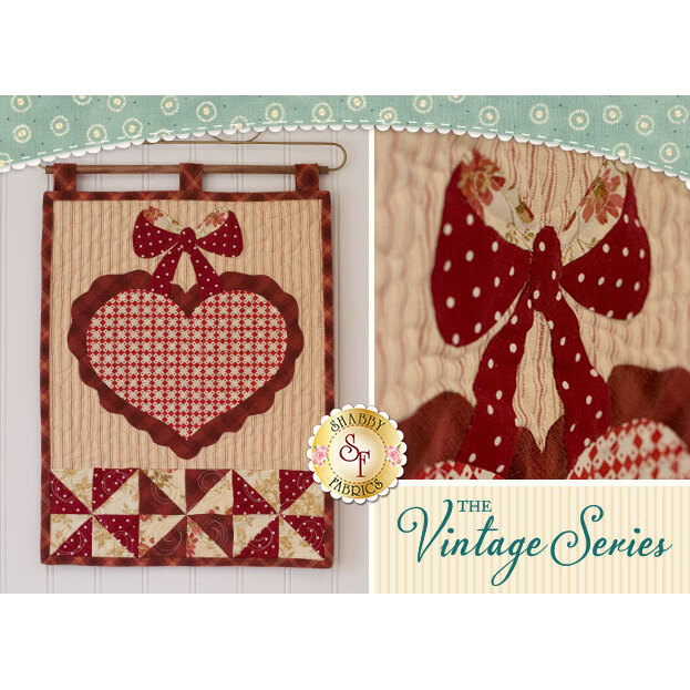 Vintage Heart Wall Hanging - February - Pattern