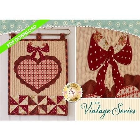 The Vintage Series - February Wall Hanging Pattern - PDF DOWNLOAD