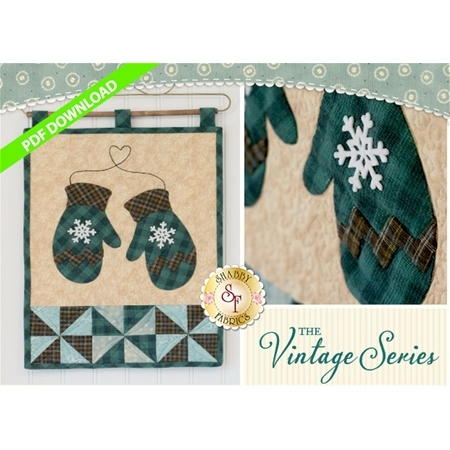 Vintage Mittens Wall Hanging - January - PDF Download