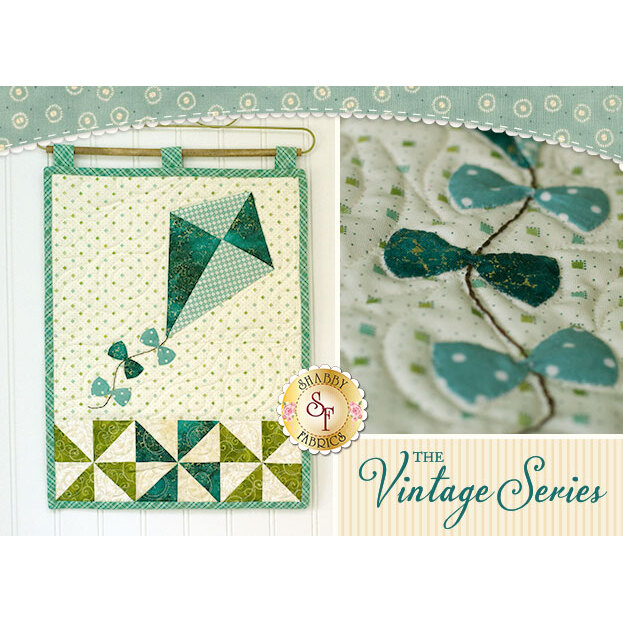 Vintage Kite Wall Hanging - July - Laser Cut Kit | Shabby Fabrics