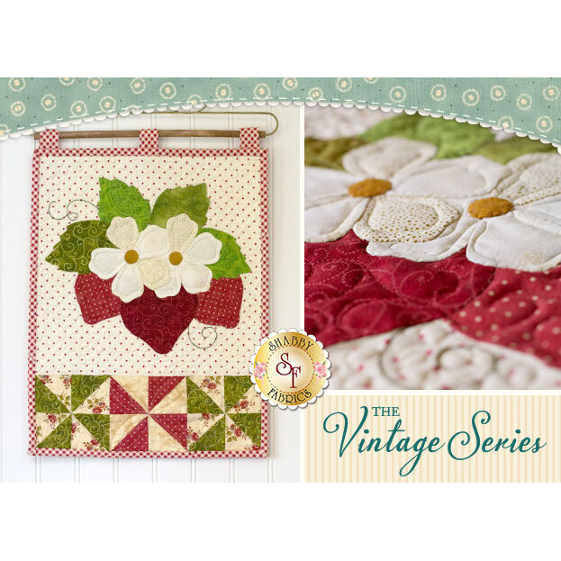 Vintage Strawberries Wall Hanging - June - Pattern