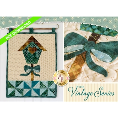 Vintage Birdhouse Wall Hanging - March - PDF Download