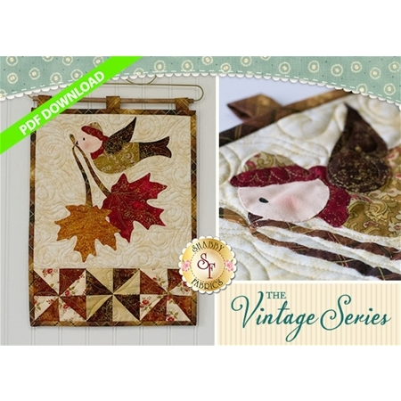 Vintage Maple Leaf Wall Hanging - November - PDF Download