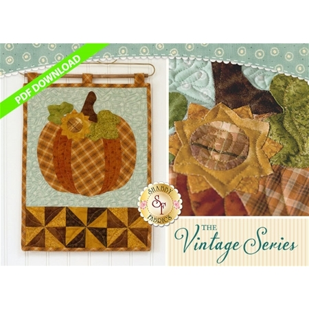 Vintage Pumpkin - Wall Hanging Pattern - PDF DOWNLOAD